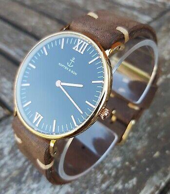 Men's Kapten & Son Campus 40mm Watch Handmade Vintage Leather Strap RRP £149