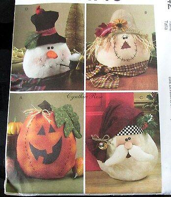 Cynthia Rose Christmas SNowman Halloween Pimpkin Santa Decor pillow 14