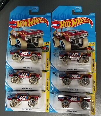 "2019 Hot Wheels OLDS 442 W-30 240/250 HW ART CARS 5/10 ""S"" DONK ~ LOT OF 6"