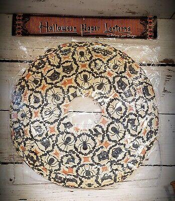 "Halloween Kaleidoscope 17"" Paper Lantern by Bethany Lowe ~ Black Cats & Spiders"