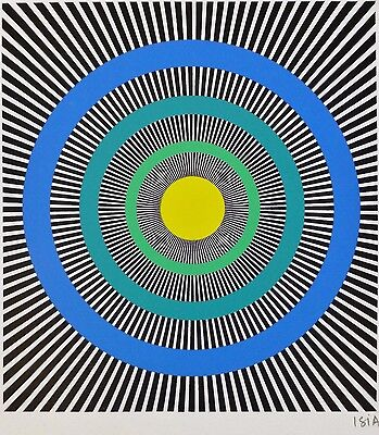 ISIA LEVIANT HAND SIGNED  1985 LITHOGRAPH KENETIC OP ART Enigma series