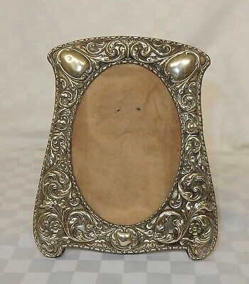 Silver Plated Art Nouveau Easel Back Photo Frame