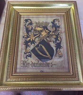 Kingdom of Ireland heraldic crest , framed and on quality canvas paper.
