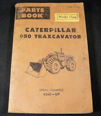 Cat Caterpillar 980 Traxcavator Tractor Parts Manual Book Catalog Sn 42h1-up
