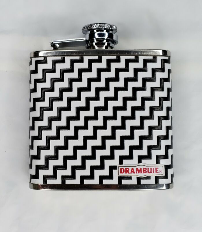 SET OF 10 NEW individually packaged Drambuie 5 oz Stainless Steel Hip Flasks.