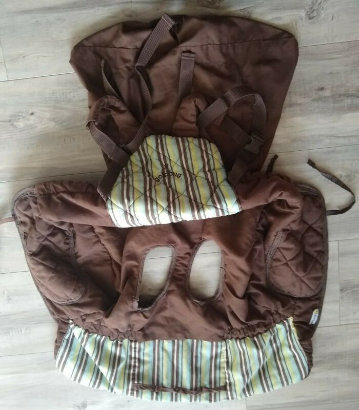 Go by Goldbug 2-in-1 Shopping Cart High Chair Cover brown/green Design