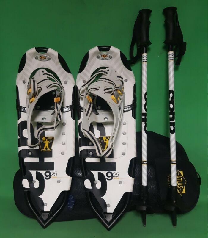 ATLAS 9 Series Snowshoe Kit: 925 Trail w/ ATLAS LockJaw 2 Pole + Carry Tote
