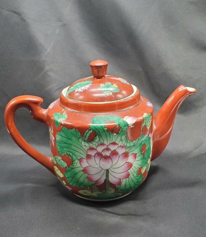 Oriental Vintage Handpainted Teapot Made in Macau