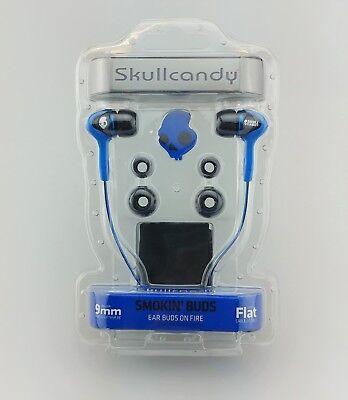 Skullcandy Smokin Buds SC Earbuds In Ear Blue Sealed New Smokin Bud Earbud Headphones