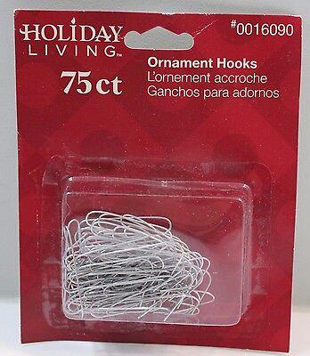 "Silver Ornament Hooks Hangers 1.5"" Long 75ct"