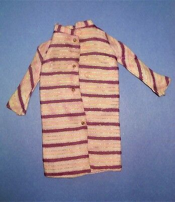 - Vtg Barbie 60s Mod Doll Clothes DANCING STRIPES Coat 1968 1843