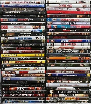 Movies A-LIST TITLES! BEST VARIETY! WHOLESALE PRICE BULK DVDS - 15 DVD LOT!
