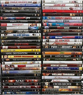 Movies A-LIST TITLES! BEST VARIETY! WHOLESALE PRICE BULK DVDS - 15 DVD LOT!