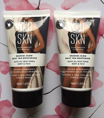 NKD SKN - Gradual Glow Daily Self Tan Moisturiser, Body & Face 50ml x 2 (100ml)