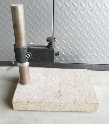 Starrett Pink Granite Surface Plate Indicator Stand 12x8x2 - 12 X 8
