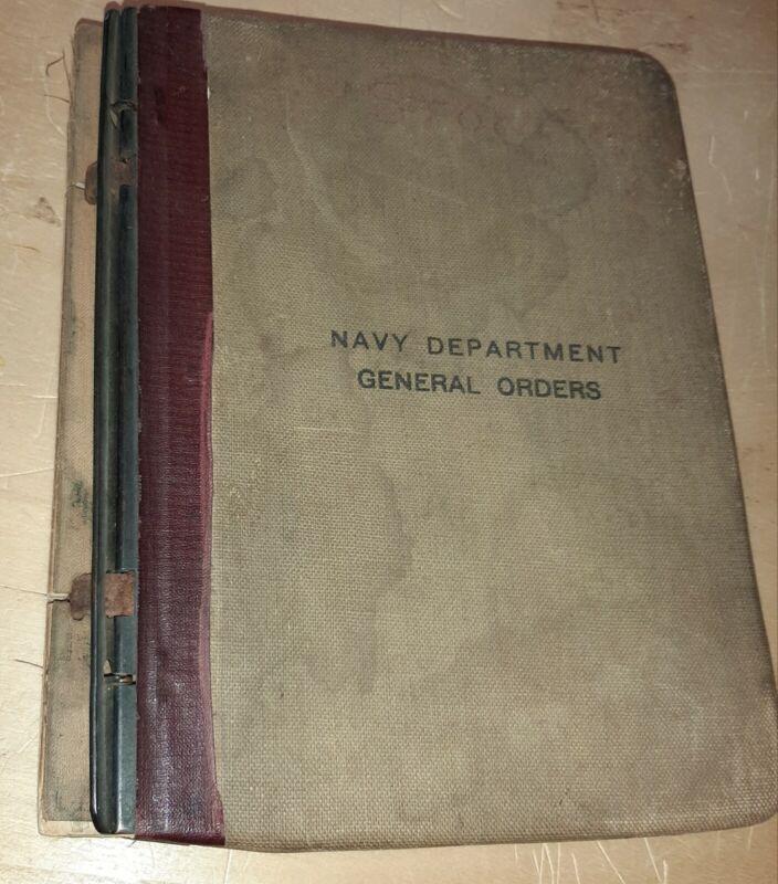 Naval Department General Orders, 1915-1922