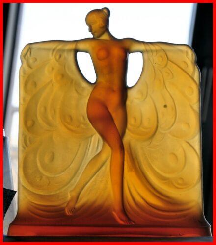 Sabino Amber Glass Figure Model Suzanne au Bain