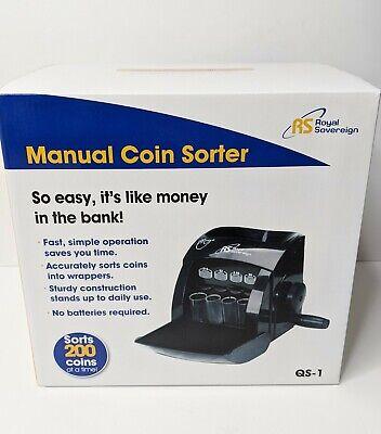 Royal Sovereign 1 Row Manual Hand Crank Coin Sorter Qs-1 Singleblack New