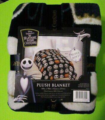 Nightmare Before Christmas Plush Blanket 60in.X90in.