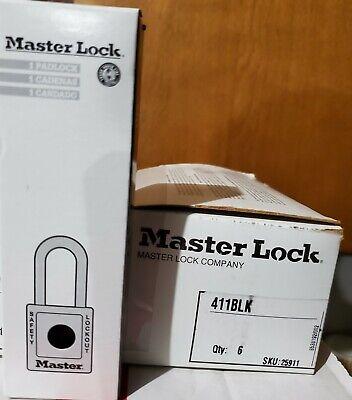 Master Lock 411blk Black Zenex Thermoplastic Safety Padlock Lockout Tagout Qty 1