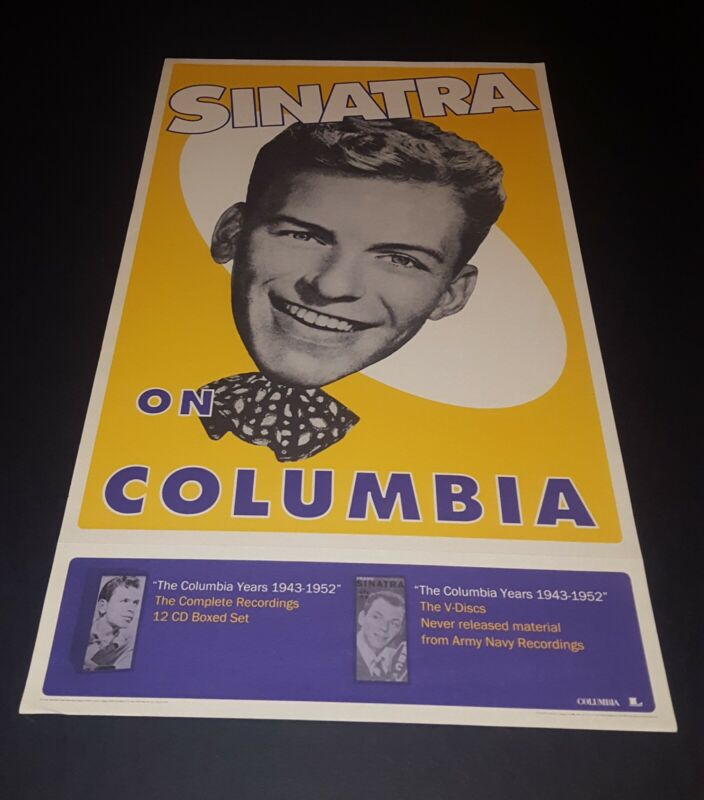 FRANK SINATRA 40S RETRO STYLE PROMOTIONAL  POSTER FOR  COLUMBIA RECORDS BOX SET