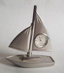 Vintage Unique Daniel David Collection Sailboat Desk Clock