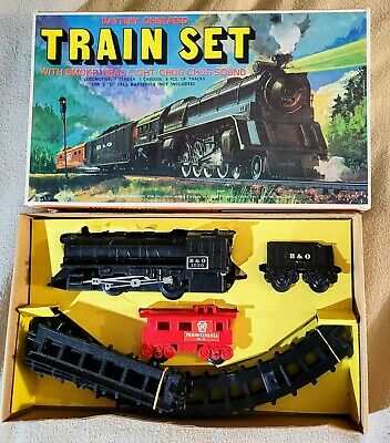 Vintage battery operated Train Set No. M 1030 B&O complete w box christmas