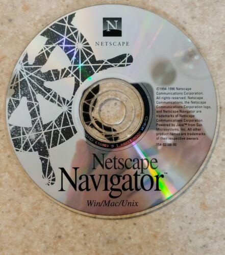 Vintage Netscape Navigator for Windows / Mac / Unix CD-ROM (c) 1994-1996 - RARE!