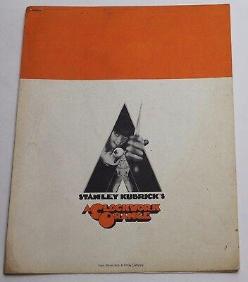 A Clockwork Orange * Press Kit Production Packet w/ Cast & Credits Info, 6 pages