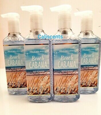 BATH & BODY WORKS BEACH CABANA DEEP CLEANSING HAND SOAPS X4 NEW