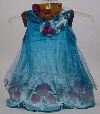 Trolls Princess Sparkle Poppy Dress Costume Size 4-6x NWT