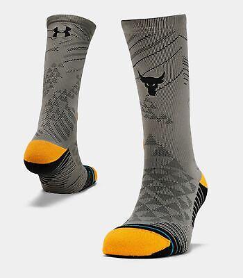 UA x Project Rock  Stance Rock Crew Men's Socks XL  UNDER ARMOUR