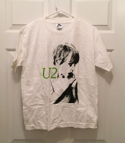 T) New U2 Youth I Will Follow Cover Concert Tour Short Sleeve T-Shirt Large