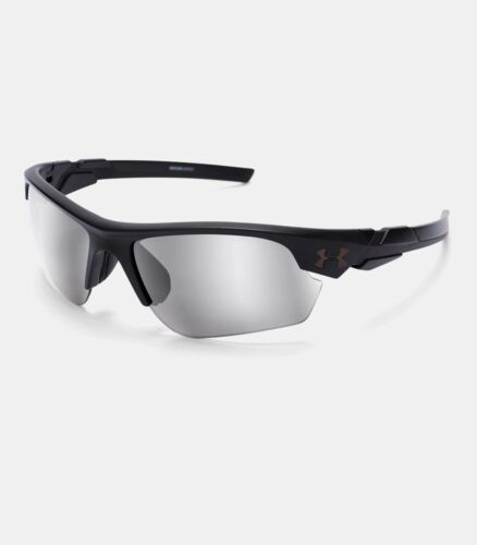 2020 Under Armour Boys UA Windup Satin Black Gray Mirror Lens Youth Sunglasses