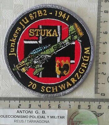 Parche bordado conmemorativo aviones alemanes Segunda Guerra Mundial IIWW STUKA