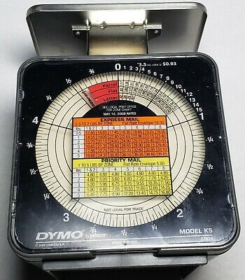 Dymo By Pelouze K5 5-lb Capacity Radial Dial Mechanical Package Scale 2008 Guc