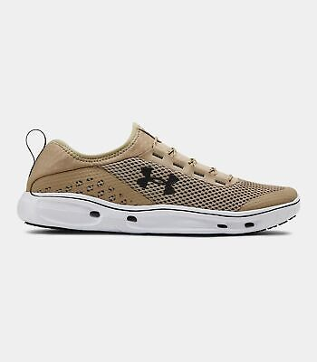 Under Armour UA Kilchis Water Shoes Sneakers Tan Desert Sand White 1268873 290