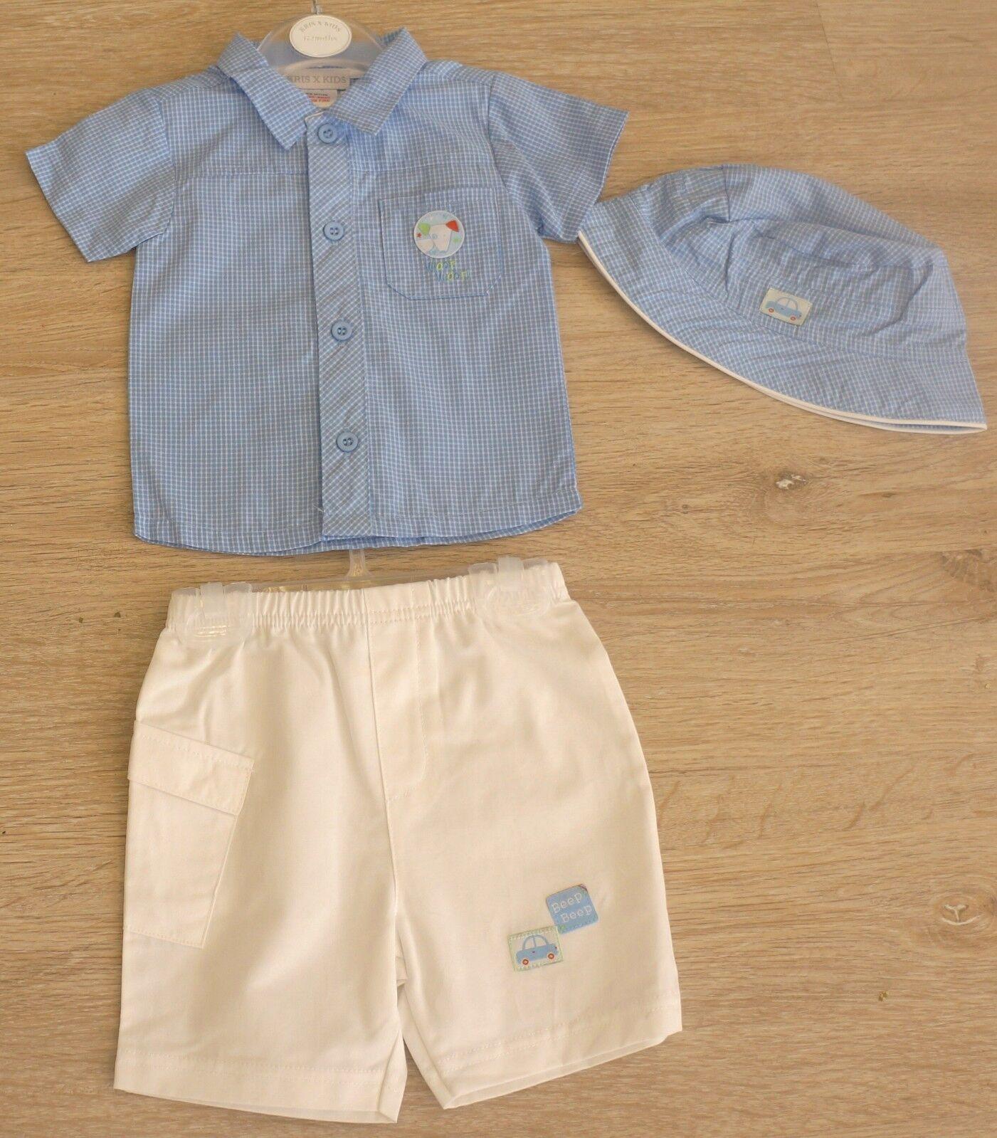 Baby Erstausstattung Set 3-teilig Geschenkset Sommer Set 0-3/3-6/6-9 Mon