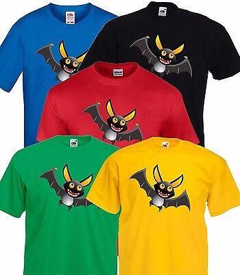 Cartoon Vampire Bat Halloween Party T Shirt Costume Childrens Kids Size