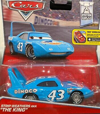 "DISNEY PIXAR CARS ""STRIP WEATHERS aka THE KING"" IMPERFECT PACKAGING, SHIP WW"