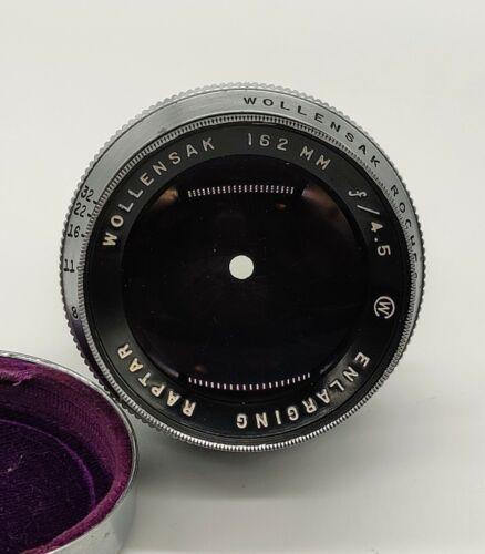 Wollensak Enlarging Raptar 162mm f/4.5 Darkroom Photo Printing Lens AS IS