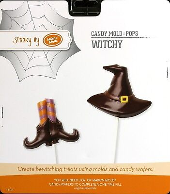 Witchy Pop Chocolate Candy Halloween Mold Make 'N Mold 1102