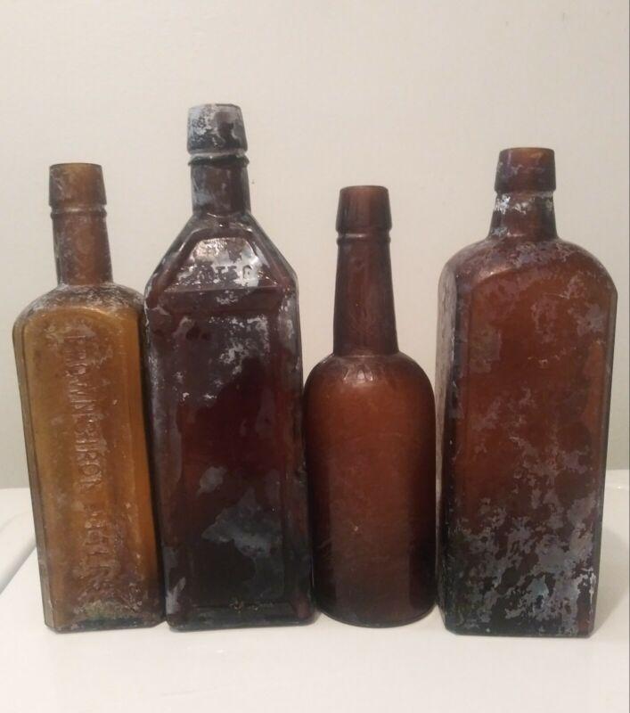 4 Bitters Bottles ( Browns,Doyles, Abbott, Hostetters)