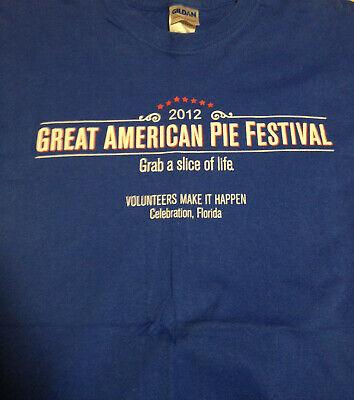 Great American Pie Festival 2012 T-Shirt CRISCO 100% Cotton Blue Size Medium