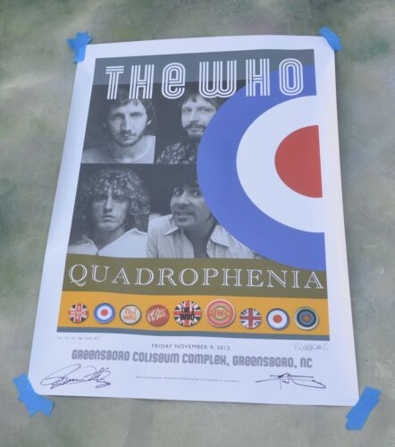 The Who Quadrophenia Signed Lithograph Poster Tour 2013 Greensbore Coliseum, NC