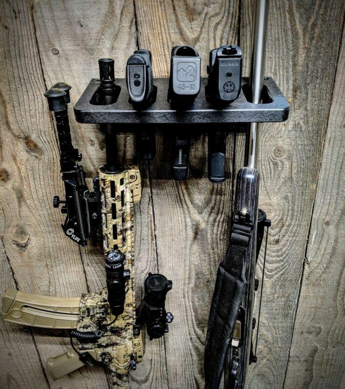 CLOSET GUN RACK TACTICAL HOSTLER 8 PISTOL RIFLE GUNSAFE SEMI AUTOMATIC HAND GUN
