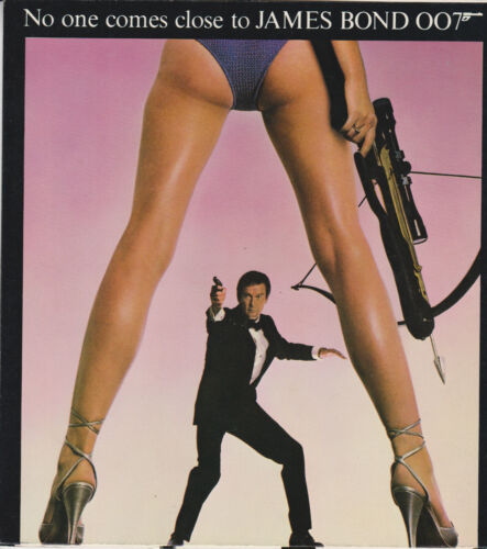 JAMES BOND FOR YOUR EYES ONLY ORIGINAL 1981 U.S. SCREENING CARD ROGER MOORE