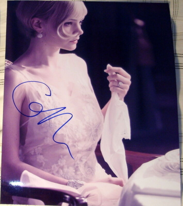 "CAREY MULLIGAN SIGNED AUTOGRAPH ""THE GREAT GATSBY"" SEDUCTIVE SHEER DRESS PHOTO"