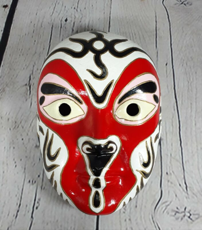 Chinese Opera Mask - Paper Mache Hand Painted Halloween/Decor