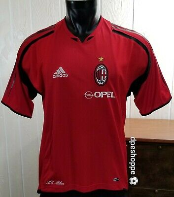 ACM 1899 A.C. Milan OPEL Adidas Soccer Adult Jersey Sz S image